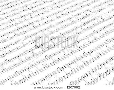 Sheet Of Printed Music