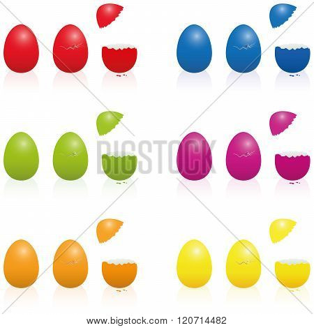 Easter Eggs Fillable Cracked Packing