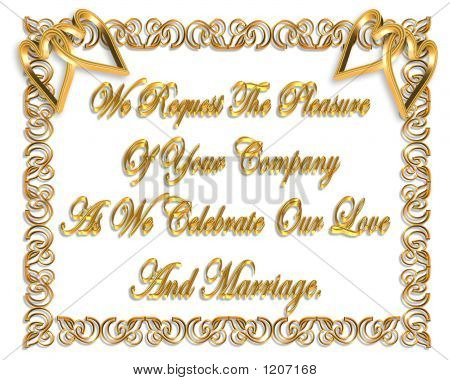 3 Dimensional Wedding Invitation