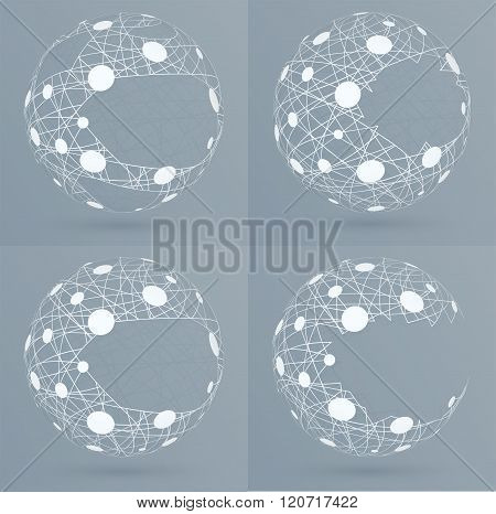 Sphere Mesh With Bubbles.