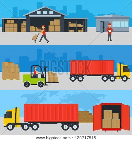 ?oncept Of Services In Delivery Of Goods, Loading And Unloading Of Goods To A Warehouse.