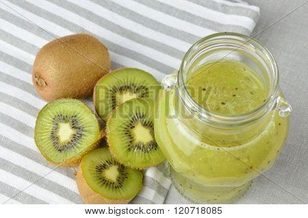 Jar Of Fresh Kiwi Jelly