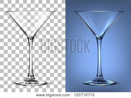 two glasses on a transparent background for editing