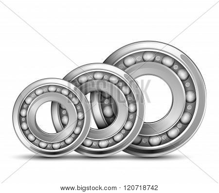 Bearing collection isolated background