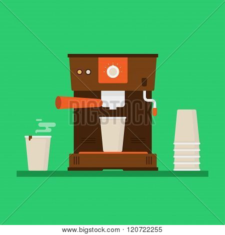 Coffee Machine Vector Illustration