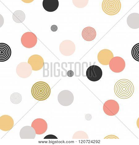 Circle Pattern. Modern Stylish Texture.