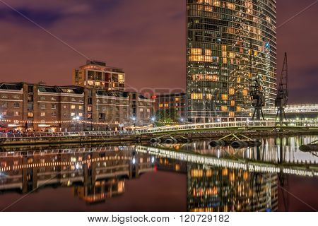 West India Quay In London Docklands