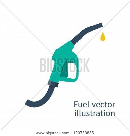 Fuel Pump. Petrol Station Sign. Gas Station Sign. Gasoline Pump Nozzle.