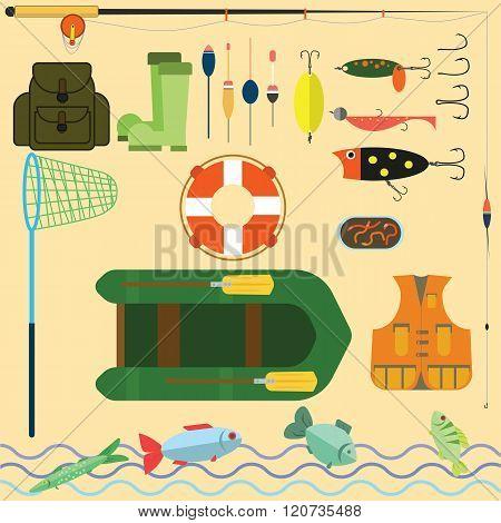 Flat Set For Fishing