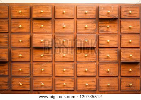 Drawers With Blank Tags.
