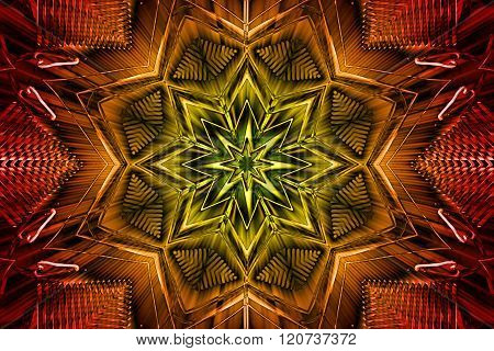Metal Kaleidoscope Background