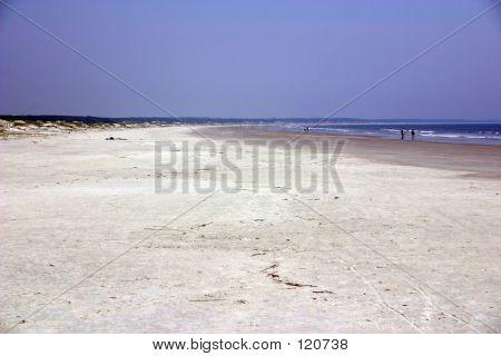 Nearly Deserted Beach