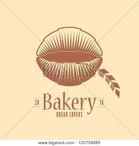 Vector logo, design element for bakery. Original design for traditional bakery