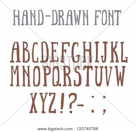 Bold hand-drawm font in the western style.