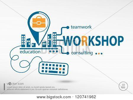 Workshop And Marketing Concept.