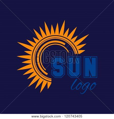 Sun Icon Sun Logo Summer Design Vector Design Template