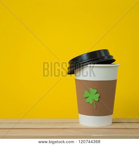 Disposable Cup With Shamrock