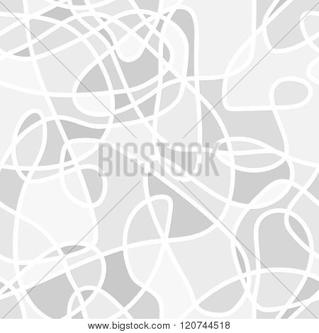 Seamless Abstract Vector Pattern - Repeat Geometric Curved Background