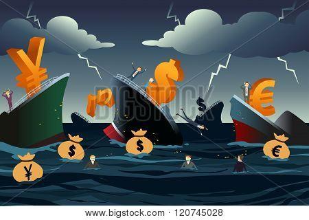 Economic Crisis Concept