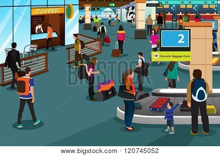 People Inside Airport Scene