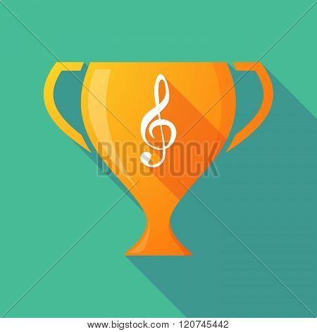Long Shadow Trophy Icon With A G Clef