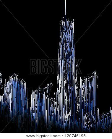 Abstract Blurred Manhattan