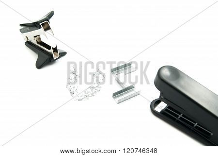 Plastic Stapler And Staple Remover
