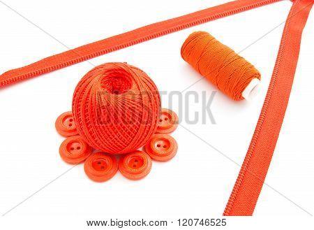 Buttons, Zipper And Thread