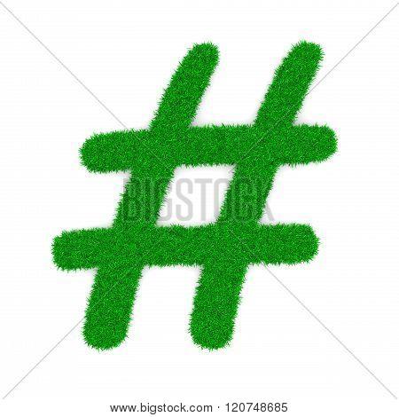 Grass Hashtag Symbol Shape
