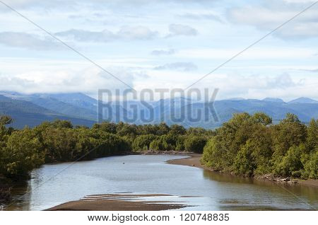 Views of the river Kamchatka