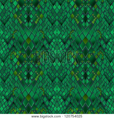 Patchwork Seamless Snake Skin Pattern Texture Background