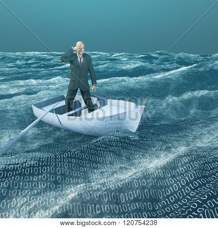 Man lost in binary sea