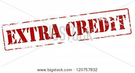 Rubber stamp with text extra credit inside vector illustration