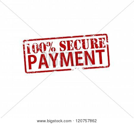 Rubber stamp with text one hundred percent secure payment inside vector illustration