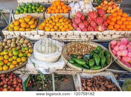 Fruits At A Market