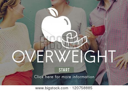 Overweight Diet Eating Disorder Unhealthy Diabetes Fat Concept