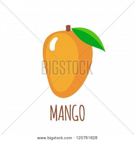 Mango icon in flat style on white background