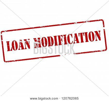 Rubber stamp with text loan modification inside vector illustration