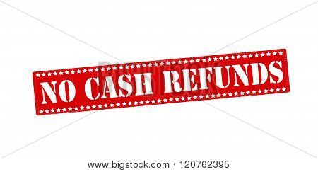 Rubber stamp with text no cash refunds inside vector illustration