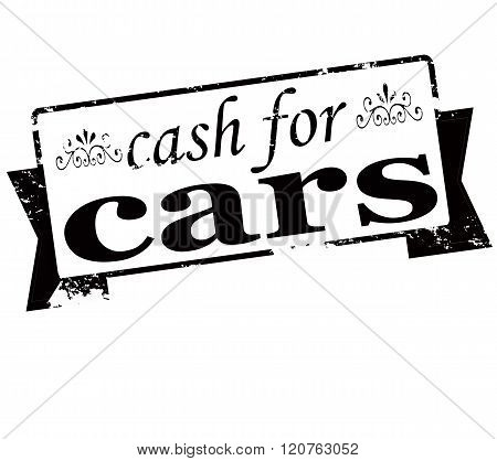 Rubber stamp with text cash for cars inside vector illustration