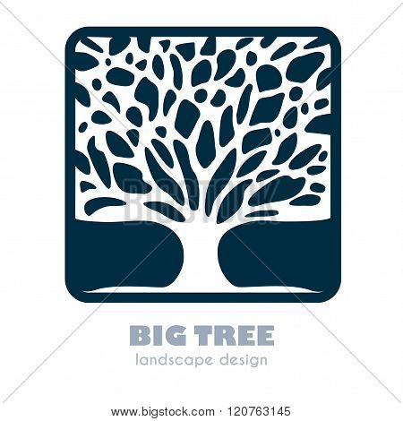Abstract Tree Sign Vector Template.