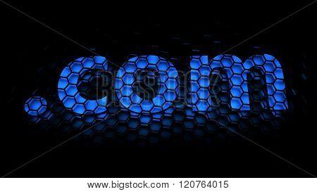 dot com ( .com ) (Top-level domain or Dot-com company) - computer generated image (3D render)
