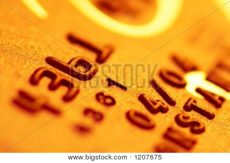 Golden Credit Card Digits
