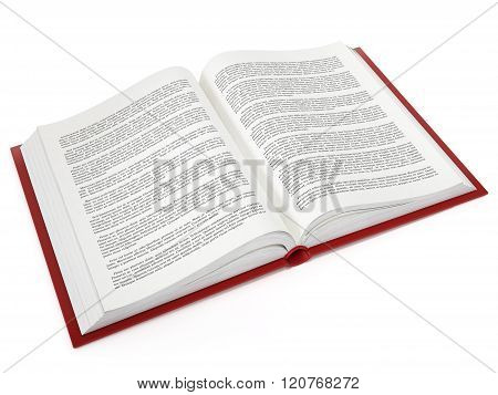 Open Book With Fictitious Text