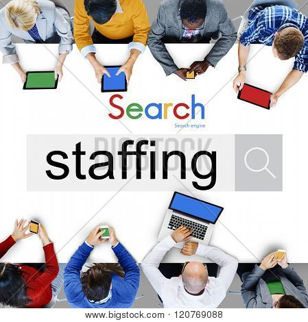 Staffing Human Resources Hiring Recruitment Company Concept
