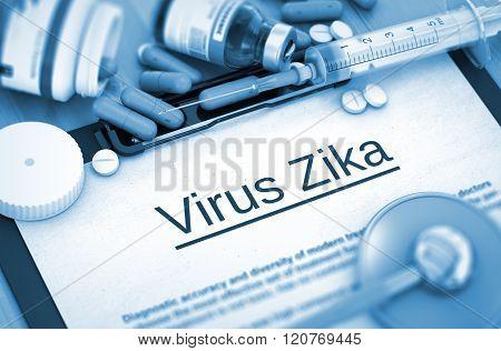 Virus Zika Diagnosis. Medical Concept.