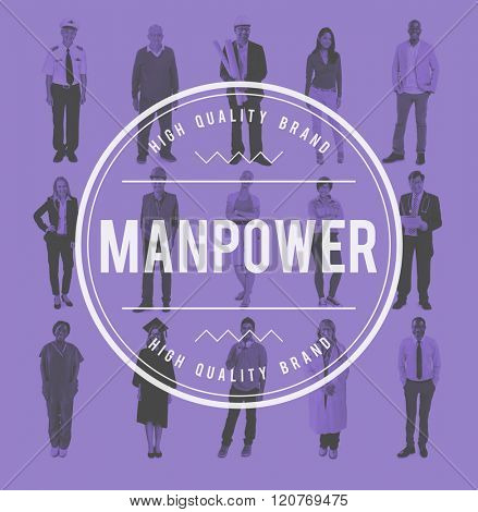 Manpower People Management Personnel Staff Concept