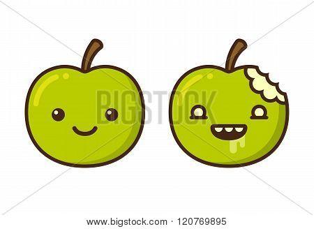 Cartoon Zombie Apple