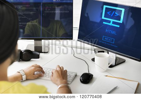 HTML Web Development Programming Language Concept