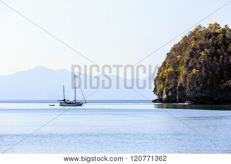 Sailing Yacht Anchored